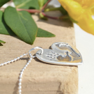 Personalised Hand And Footprint Necklace