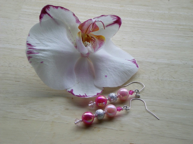 PRETTY IN PINK DROP EARRINGS
