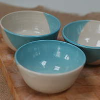 breakfast bowls, handmade pottery