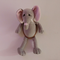 Elephant (Soft Toy) Head Wall Decoration