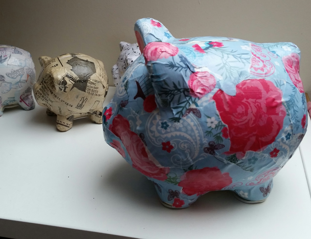 French Chic Upcycled Piggy Bank