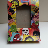 Heroes and Villains Decoupaged Photo Frame