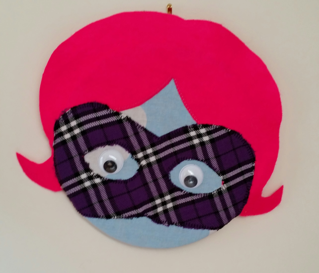 Covered Cork Pinboard - Superhero (Pink Hair)