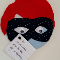 Covered Cork Pinboard - Superhero (Red Hair)