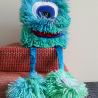 Wart the Worrier Blue Monster
