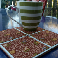 Ditsy Flower Print Coasters