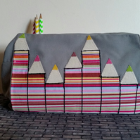 Stripey Pencils - Pencil Case