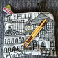 Embellished City Scene Make-Up or Toiletries Bag or Pencil Case