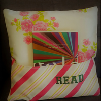 Flower and Stripes Reading Cushion