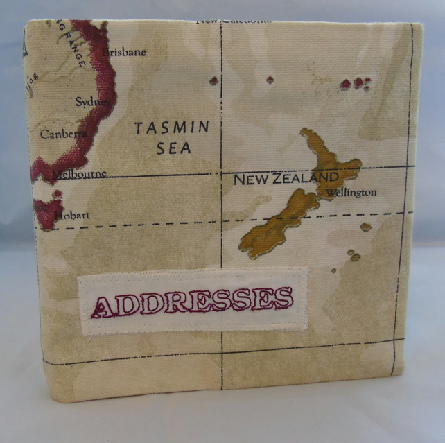 Map Covered Address Book