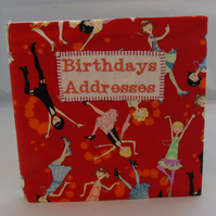 Flapper Girl Covered Birthdays and Address Book