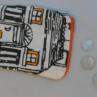 Small (but perfectly formed!) Zippered Pouch - Hand Embellished