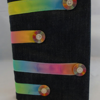 A5 Rainbow Ribbon Removable Notebook Cover