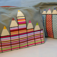 Pencils Zippered Pouch