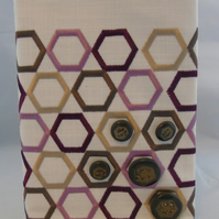 Hexagon Removable Journal or Notebook Cover