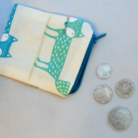 Small (but perfectly formed!) Zippered Pouch - Fox