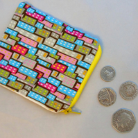 Small (but perfectly formed!) Zippered Pouch - Houses