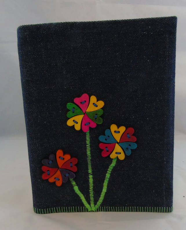 Button Flower Removable Notebook Cover A5