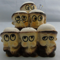Large Pin Cushions - Monks