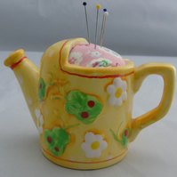 Novelty Watering Can Pin Cushion