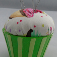 Novelty Cupcake  Pin Cushion