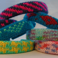 Knitted Hairdbands - Patterned