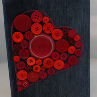 Button Heart Removable Notebook Cover A5