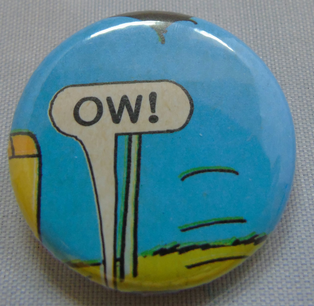 Comics Badge - Ow!