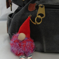 Lavender Gnome Keyring - Red Hat