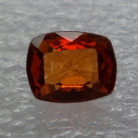 0.70 Ct Ceylon Natural Orange Hessonite Garnet Cushion Rectangular Shape Gems