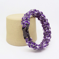 Paracord Bracelet - Mauve And Grey