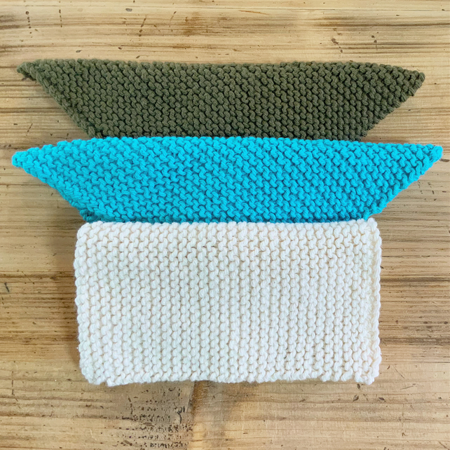 Pack Of 3 Dishcloths. Reusable Washcloth. Washcloth. Facecloth. Dishcloths.