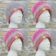 Reversible Hat. Woollen Hat. Knitted Hat. Cosy Hat.