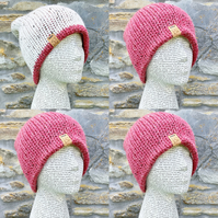 Reversible Hat. Knitted Hat. Woolly Hat. Woollen Hat. Handmade Hat. Cosy Hat.