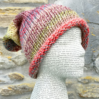 Rolled Brim Hat. Knitted Hat. Woolly Hat. woollen Hat. Lightweight Hat.