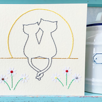 Cat Card. Romantic Card. Love Card. Wedding Card. Engagement Card. Anniversary.