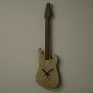 Clock guitar solid chestnut and bubinga