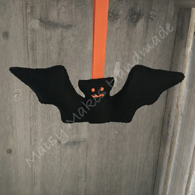 Boris Bat 100% Wool Felt Halloween Hanging Decoration
