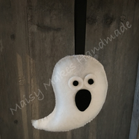 Gavin The Halloween Spooky Ghost 100% Wool Felt Hanging Decoration