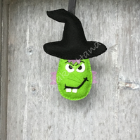 Kerrina The Witch Halloween 100% Wool Felt Hanging Decoration