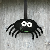 Stanley The Scary Spider Halloween 100% Wool Felt Hanging Decoration