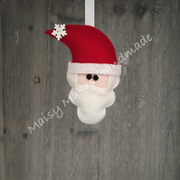 Father Christmas 100% Wool Felt Hanging Decoration