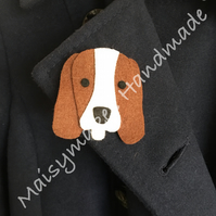 Felt Beagle Brooches (Multiple Colours Available)