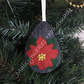 Christmas Poinsettia Tear Drop Bauble