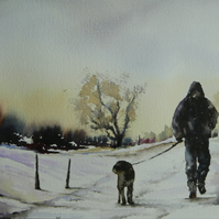 In all weather. Original Watercolour Painting.