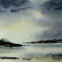 Stormy Seascape, Original Watercolour Painting.
