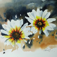 Flowers, Original Watercolour Painting.