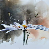 Daisy, Original Watercolour Painting.
