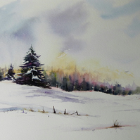 Winter Trees, Pair of Original Watercolour Paintings (x2 paintings).