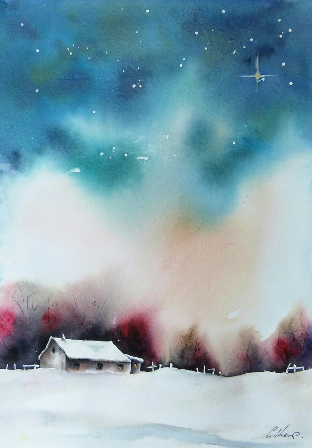 The Star No2, Original Watercolour Painting.